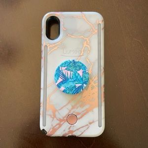 LuMee Duo Case | Rose Gold Marble